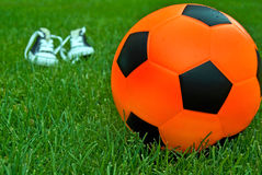 Orange Soccer Ball Stock Images