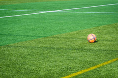 Orange soccer ball Stock Photography