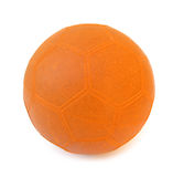 Orange soccer/football ball Royalty Free Stock Photography