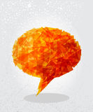 Orange social bubble shape. Royalty Free Stock Image