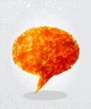 Orange social bubble shape. Royalty Free Stock Image