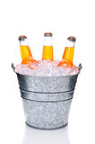 Orange Soda Botles in Bucket Stock Photography
