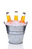 Orange Soda Botles in Bucket Stock Photography