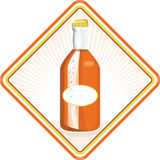 Orange Soda Bottle Diamond Retro Stock Photo