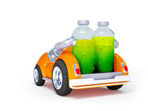 Orange soda car back Stock Image