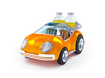 Orange soda car Stock Photography