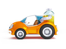 Orange soda car Stock Photos