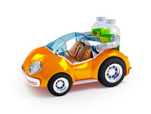 Orange soda car Royalty Free Stock Photo