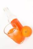 Orange soda and fruit Stock Image