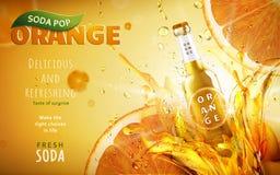 Orange soda pop ad Stock Photos