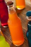 Orange sodavatten för blandat organiskt hantverk royaltyfri fotografi