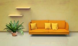 Orange sofa Stock Photos