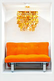 Orange sofa Royalty Free Stock Image