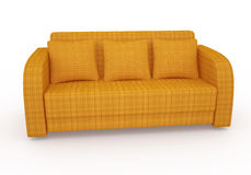 Orange sofa Royalty Free Stock Photos