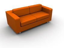 Orange sofa Royalty Free Stock Photo