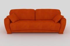 orange sofa Royalty Free Stock Photography
