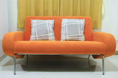 Orange sofa Royalty Free Stock Photography