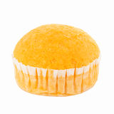 Orange soft cake Stock Photos