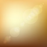 Orange Soft Colored Abstract Background with Lens. Flare Light. Vector illustration Stock Images