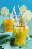 Orange soft drink Stock Image