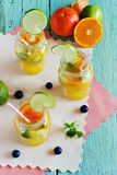Orange soft drink Royalty Free Stock Images