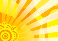 Orange solar summer banner Royalty Free Stock Photo
