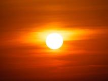 orange solnedgång Arkivbilder