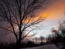 orange solnedgång royaltyfri fotografi