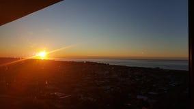 Orange Sonnenaufgänge Lizenzfreies Stockbild