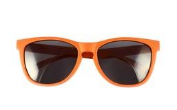 Orange Sonnenbrillen lokalisiert stockfotografie