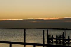 Orange Sonnenuntergang Lizenzfreie Stockbilder