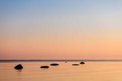 Orange Sonnenuntergang Lizenzfreies Stockfoto