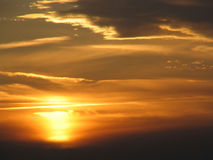 Orange Sonnenuntergang lizenzfreie stockfotos