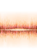 Orange sound wave on white. + EPS8 Stock Photography
