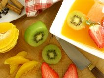 Orange soup with spices Royalty Free Stock Image
