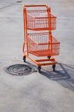 Orange spårvagn Arkivbild