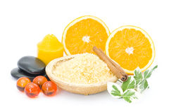 Orange spa Stock Photography