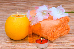 orange spa Στοκ Εικόνες