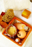 Orange spa accessories Royalty Free Stock Images