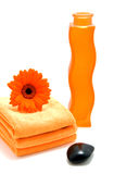 Orange spa accessory Royalty Free Stock Photo