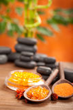 Orange spa - bath salt Stock Image