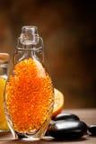 Orange Spa - bath salt Stock Images