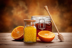Orange Spa - minerals for Aromatherapy Royalty Free Stock Image
