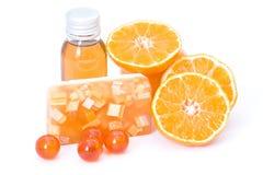 Orange spa products Royalty Free Stock Photo