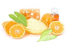 Orange spa products Stock Photo
