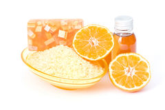Orange spa products Stock Image