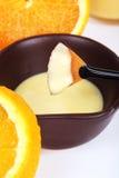 Orange spa products Stock Photos