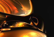 Orange space (abstract) 01 Royalty Free Stock Photo