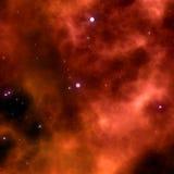 Orange space nebula Royalty Free Stock Image