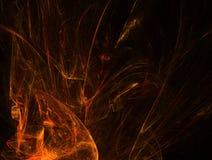 orange spark för flamma stock illustrationer